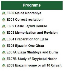 Ejazaonline Programs