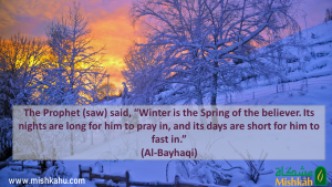 Hadith about winter being the spring of the believers